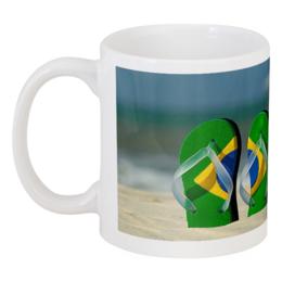 "Кружка ""Кружка Бразилия"" - мир, отпуск, путешествия, кокос, бразилия, чемпионат"