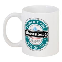 """Кружка """"Heisenberg"""" - во все тяжкие, breaking bad, heisenberg, хайзенберг, heineken"""