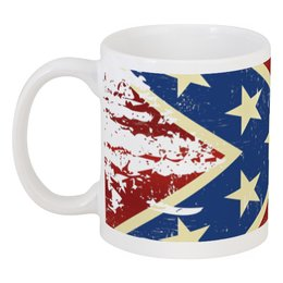 """Кружка """"Флаг конфедерации США"""" - арт, америка, флаг, конфедерация, флаг конфедерации"""