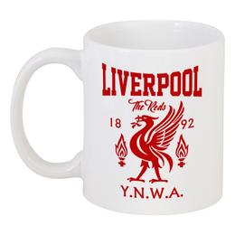 "Кружка ""Ливерпуль"" - футбол, ливерпуль, liverpool, футбольный клуб, you ll never walk alone"