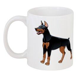 """Кружка """"Доберман"""" - пёс, собака, доберман, год собаки, 2018"""