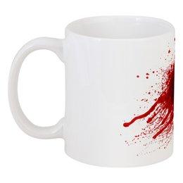 """Кружка """"Кровавый след"""" - кровь, помощь, чай, кровоподтек"""