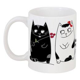 """Кружка """"Парочка"""" - котики, пара, любовь, романтика"""