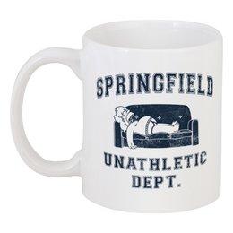 """Кружка """"Springfield Unathletic Dept"""" - simpsons, прикольные, симпсоны, гомер симпсон, лень"""