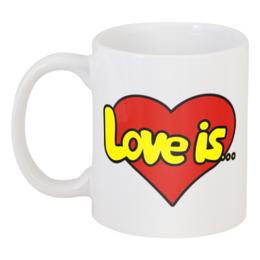 "Кружка ""Love is"" - сердце, любовь, love is, любимому, девушке"