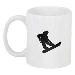 """Кружка """"Keep calm and ride your board"""" - сноуборд, snowboard, keep calm, экстрим, доска, extreme, board, сноубординг, каталка"""