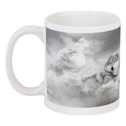 """Кружка """"волк на облаках"""" - красота, природа, волки, облака"""