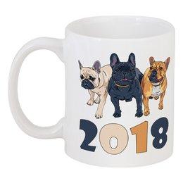 """Кружка """"Собаки"""" - новый год, собака, пёс, 2018, год собаки"""