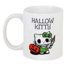 "Кружка ""Hallow Kitty"" - кошка, hello kitty, тыква, хелло китти, хэловин"