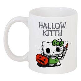 "Кружка ""Hallow Kitty"" - кошка, hello kitty, тыква, хелло китти, хэловин"