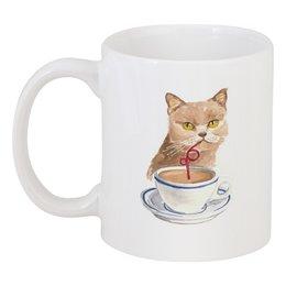 "Кружка ""Чаепитие"" - кот, кошка, cat, чаепитие"