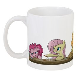 "Кружка ""Pony Drinkin"" - my, pony, brony, drink, little"