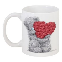 """Кружка """"Мишка Тедди"""" - сердце, сердца, день святого валентина, hearts, мишка тедди"""