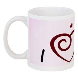 """Кружка """"I love you"""" - сердце, любовь, день святого валентина, 14 февраля, 8 марта"""