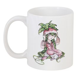 "Кружка ""Девочка-редиска"" - рисунок, аниме, овощ, редиска"
