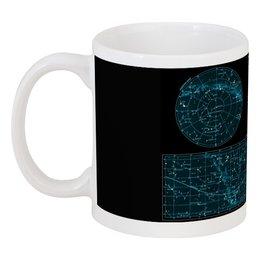 """Кружка """"Карта звёздного неба"""" - карта, дизайн, звёзды"""