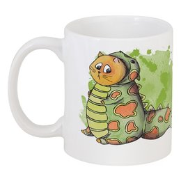 """Кружка """"Little Cute Dragon"""" - кот, прикольно, арт, дракон, рисунок, прикольные, cat, в подарок, оригинально, dragon"""