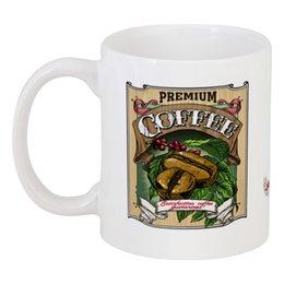 "Кружка ""coffee"" - ретро, рисунок, винтаж, кофе, пин ап"