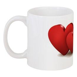 "Кружка ""Валентинка"" - сердце, цветы, валентинка"