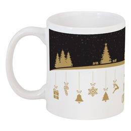 "Кружка ""Merry Christmas and happy NY"" - праздник, подарок, рождество, merry christmas, 2017"