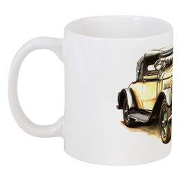 "Кружка ""Ретроавтомобили 2"" - ретро, рисунок, автомобили"
