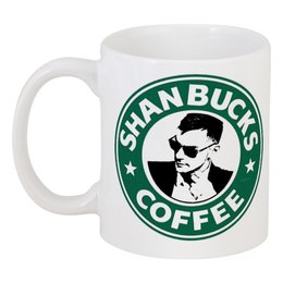 "Кружка ""Shanbucks Coffee"" - 30 seconds to mars, rock, coffee, 30 секунд до марса, thirty seconds to mars, starbucks"