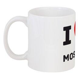 """Кружка """"I Love Moscow"""" - любовь, москва, страны, города, россия"""