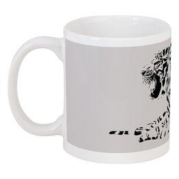 """Кружка """"Силуэт Бенгальского тигра. """" - силуэт, хищник, тигр, животное, бенгальский"""