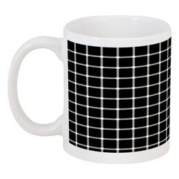 """Кружка """"Чёрная клетка"""" - иллюзия, оптика, чёрная клетка"""