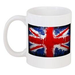 """Кружка """"Британский флаг"""" - юмор, fun, англия, потертость"""