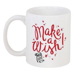 """Кружка """"Make a wish"""" - в подарок, подарки, new year, presents"""