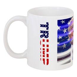 """Кружка """"45 президент США - Дональд Трамп"""" - знаменитости, политики, дональд трамп, американский президент"""