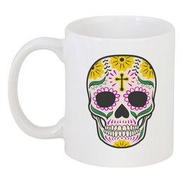 """Кружка """"Череп"""" - череп, мексика, красочный"""