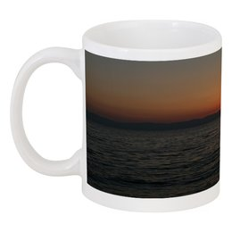 "Кружка ""Закат на море"" - солнце, море, закат, пейзаж, вечер"