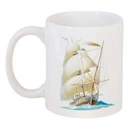 "Кружка ""Парусник"" - море, ветер, паруса"