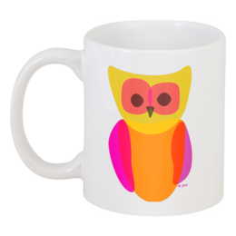 "Кружка ""BRIGHT OWL"" - ярко, кружка, сова, мило, owl"