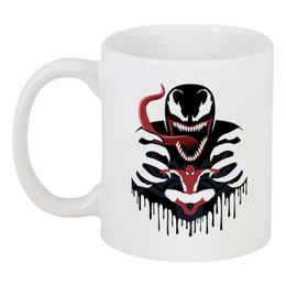 "Кружка ""Веном"" - venom, spider man, человек паук, веном"