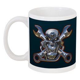 "Кружка ""Metal Skull"" - череп, heavy metal, байкер, хардкор, biker skull"
