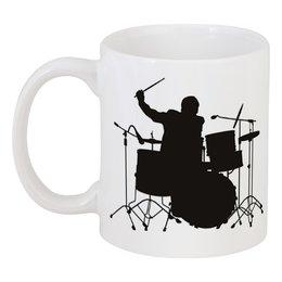 """Кружка """"Drums"""" - music, metal, rock, drums, день рождения"""