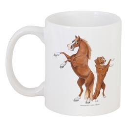 """Кружка """"Рыжий пони/Толлер"""" - лошадь, собака, подарок, толлер"""