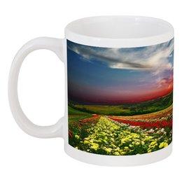 "Кружка ""божественный закат"" - цветы, красота, облака, природа, закат"