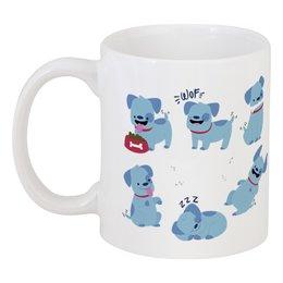 """Кружка """"Смешные собаки"""" - щенок, собака, пёс, 2018, год собаки"""