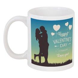 """Кружка """"День влюблённых"""" - день влюблённых, сердечки, 14 февраля, любовь, пары"""