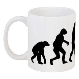 """Кружка """"Эволюция"""" - арт, юмор, стиль, эволюция, дарвин"""