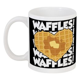 "Кружка ""Вафельки"" - вафли, waffles"