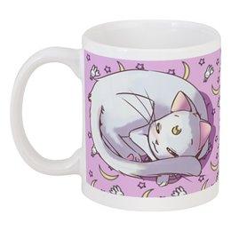 """Кружка """"Артемис"""" - кот, утро, сон, sailor moon, артемис"""