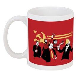 "Кружка ""Вписка комунистов"" - ссср, вечеринка, пати, впсика"
