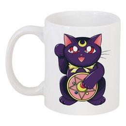 """Кружка """"Манэки-Нэко (Кот Счастья)"""" - сейлор мун, кот счастья"""