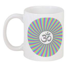 """Кружка """"Яркий радужный символ Аум (ОМ)"""" - подарок, ом, медитация, индуизм, мантра"""