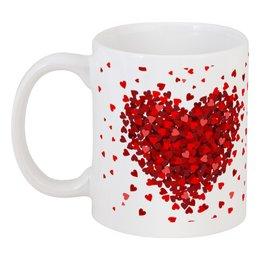 """Кружка """"сердце с лепестками"""" - сердце, любовь, лепестки, hearts"""